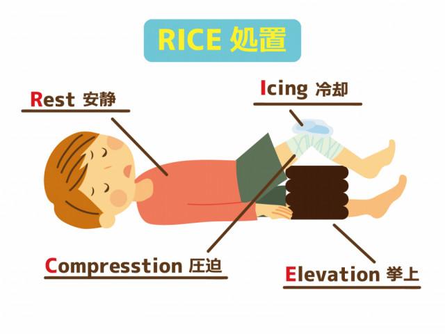 RICE処置のイラスト